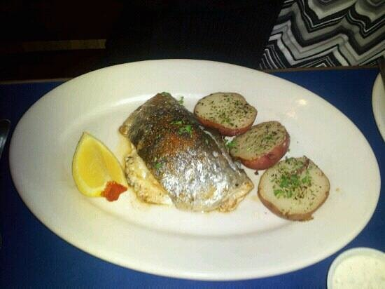 The Speckled Trout: Roasted potatos, stuffed trout.