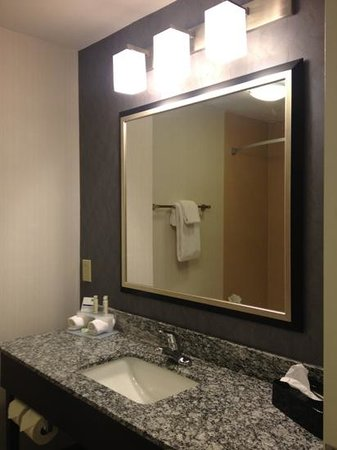 Holiday Inn Express & Suites Greenfield: Clean Bathroom