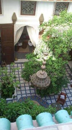 Riad Souafine : Patio, vu de la terrasse