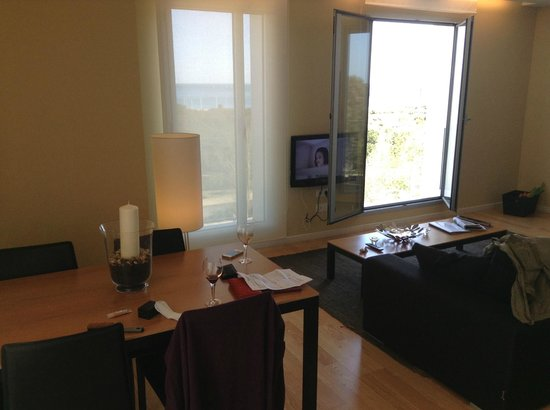 Lugaris Beach: Living room is quite small