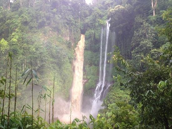 The waterfall from Sudaji village.....! powered by www.omunitybali.com