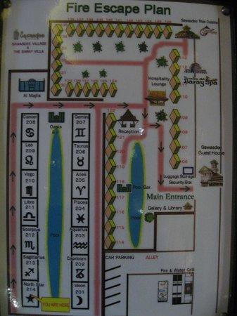 The Baray Villa : Plan de l'hôtel