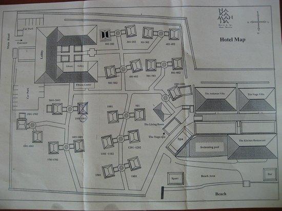 Nakamanda Resort & Spa : Plan de l'hôtel