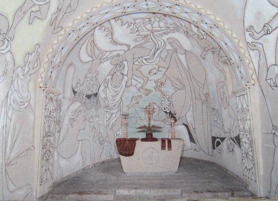 Chapelle de Saint Pierre des Pecheurs: L'abside: S. Pietro cammina sulle acque sotenuto dagli angeli