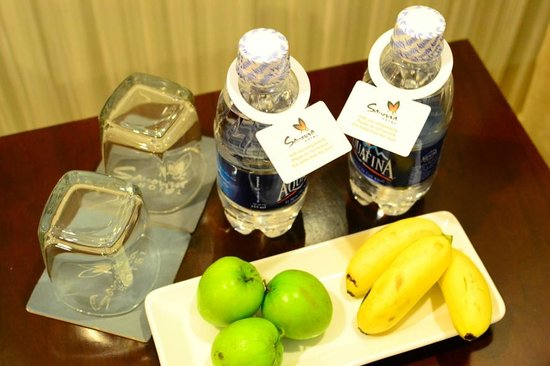 Sanouva Saigon Hotel: Complimentary bottled water and fruits