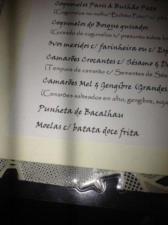 Ave Maria: a different menu :)