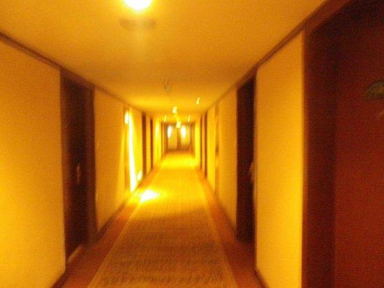 Yantai Asia Hotel : 部屋への廊下