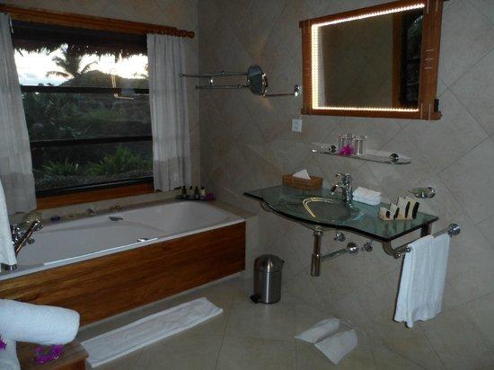 Le Chateau de Feuilles: la salle de bains