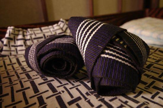 ماتسوبايا ريوكان: Our traditional sleeping robes supplied at the hotel.