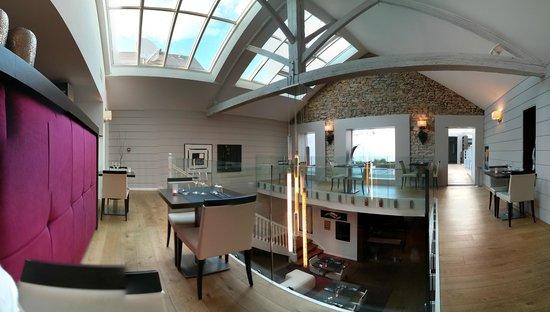 Le Pavillon Rose : vue panoramique de l'étage