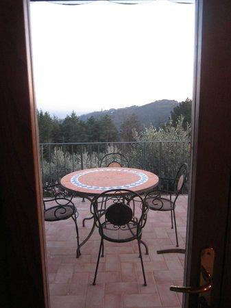 Podere Fioretto: vista dal balconcino
