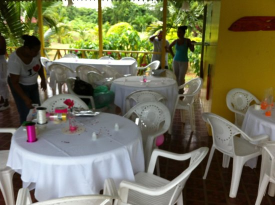 Orange Bay, Jamaica: setting up