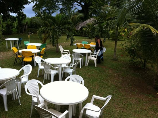 Orange Bay, Jamaika: Setting up for a party