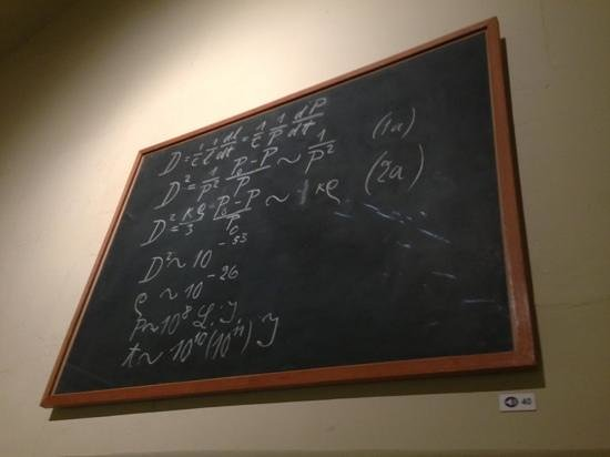 Museum of the History of Science: Albert Einstein Black Board