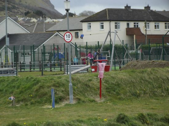 Strandhill Caravan and Camping Park: Play area outside the entrance to the park