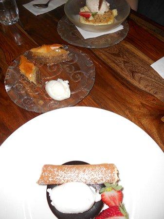 Shila - Sharon Cohen's Kitchen & Bar: Three desserts (free baklawa!)