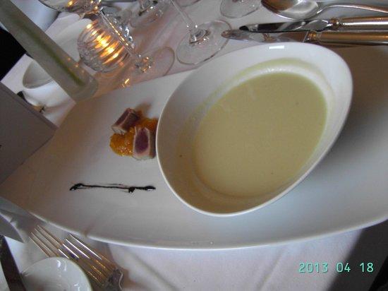 Restaurant Bel Etage : asparagus soup