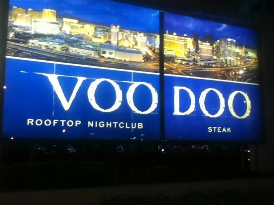 Sign VooDoo Steak house and lounge