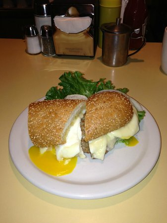 Solly's Grille: Breakfast Sandwich with eggs over easy