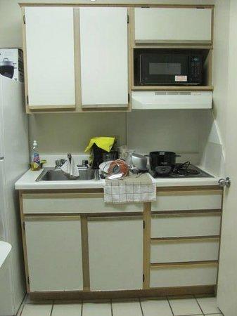 Crossland Economy Studios - Dallas - North Addison - Tollway: A closer view of the kitchen
