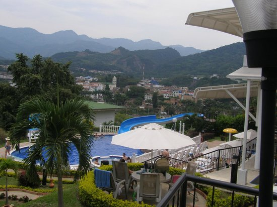 Villeta, Colombia: View of the town fron the Hotel
