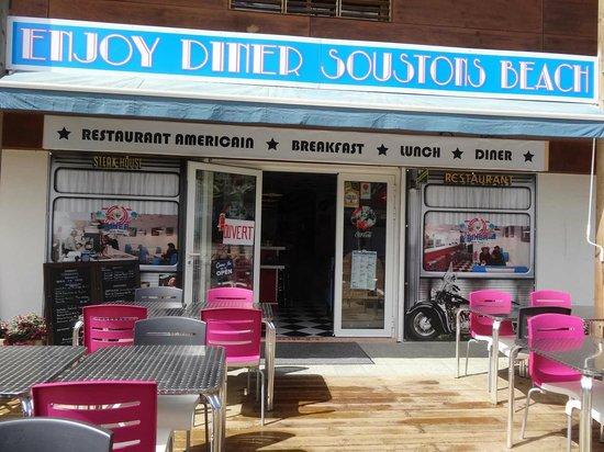 Enjoy Diner Soustons Beach: terrasse du restaurant