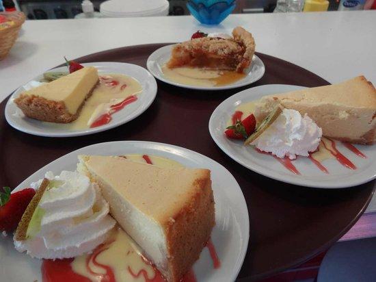 Enjoy Diner Soustons Beach: assortiment de desserts