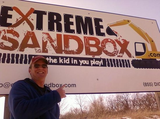Extreme Sandbox - Minnesota: Matt after his Extreme Sandbox Experience