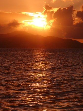Cloud 9 Sailing Adventures: Sunset over St. Thomas
