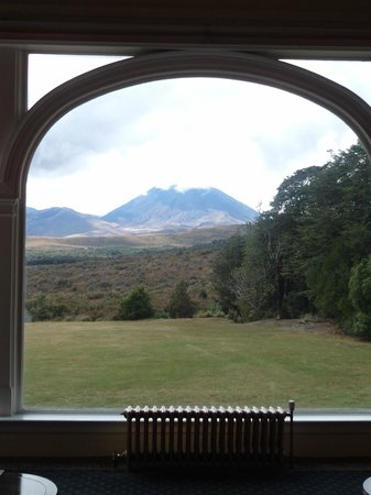 Chateau Tongariro Hotel: View from lounge