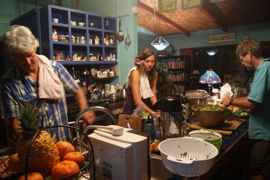 Dragonfly Ranch - Healing Arts Center: Staff and friends enjoy a fresh feast!