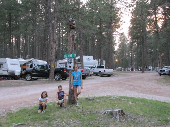 Big Pine Campground: Another great pic behind of the kids
