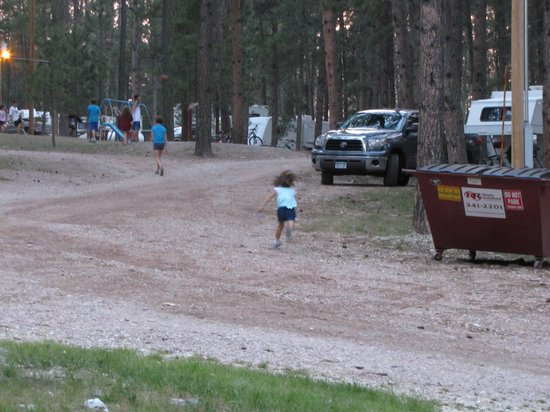Big Pine Campground: Going off to the playground