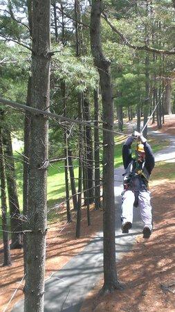 Asheville Zipline Canopy Adventures : weeeeeeeee