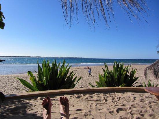Casa na Praia Tofo: uitzicht vanaf het terrasje voor de kamer