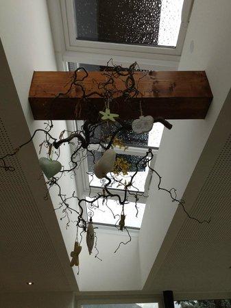 Hotel & Apartments Torggelehof: Decorazione della sala colazione
