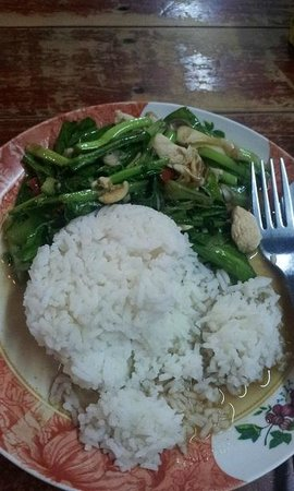 Number One: chinese broccoli with chicken.  killa good.