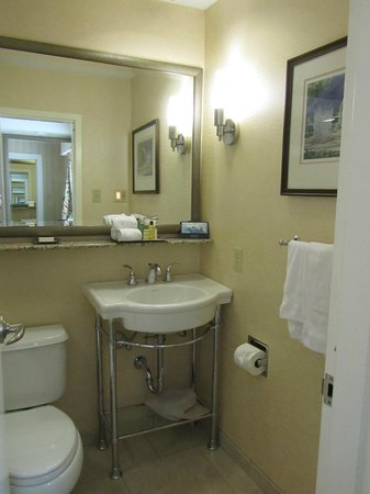 Hilton St. Louis Frontenac: Bathroom, small but spotless.