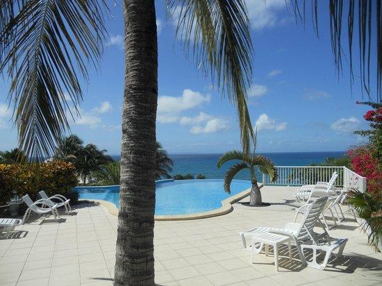 Hotel Amaudo: Piscine à débordement de l'hôtel