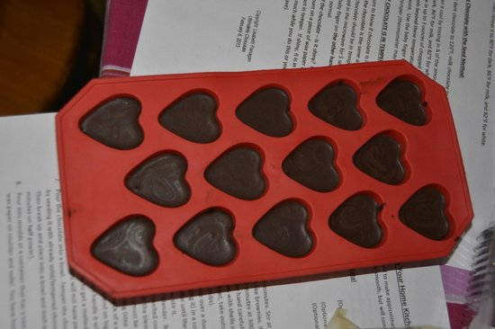 Auberge Inn Hostel: The finished product, chocolate hearts.