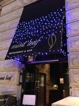 Mint Leaf Lounge : entrance
