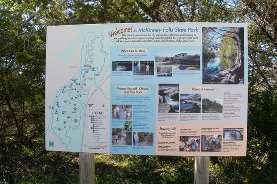 Mckinney Falls State Park Trail Map Picture Of: Mckinney Falls State Park Map At Usa Maps