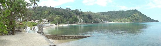 Blue Crystal Beach Resort : part view of bay. some missing from print