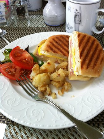 The Addison on Amelia Island: Ham & Egg Panini w/potatoes