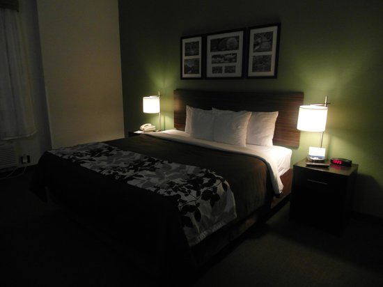 Sleep Inn & Suites Downtown Inner Harbor: The bed in the room