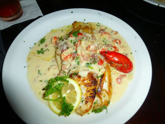 Fairhope, AL: Chef's special: grouper with crawfish sauce