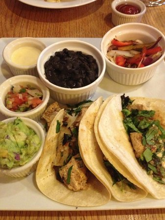 The Standard Restaurant: Chicken Tacos....build em, wrap em, eat em, yum.....