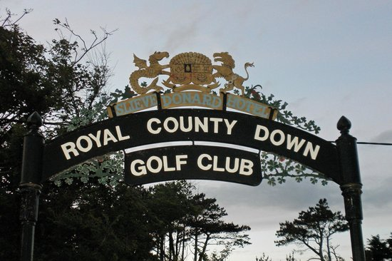 Royal County Down Golf Club: Entrance from Slieve Donard