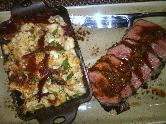 Public School 310: My encrusted steak and cauliflower side dish