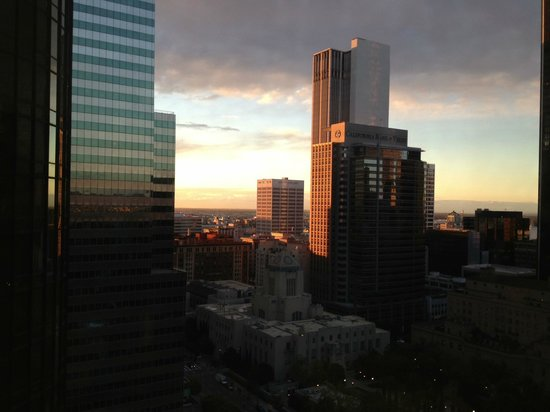 The Westin Bonaventure Hotel & Suites: View from a high floor room